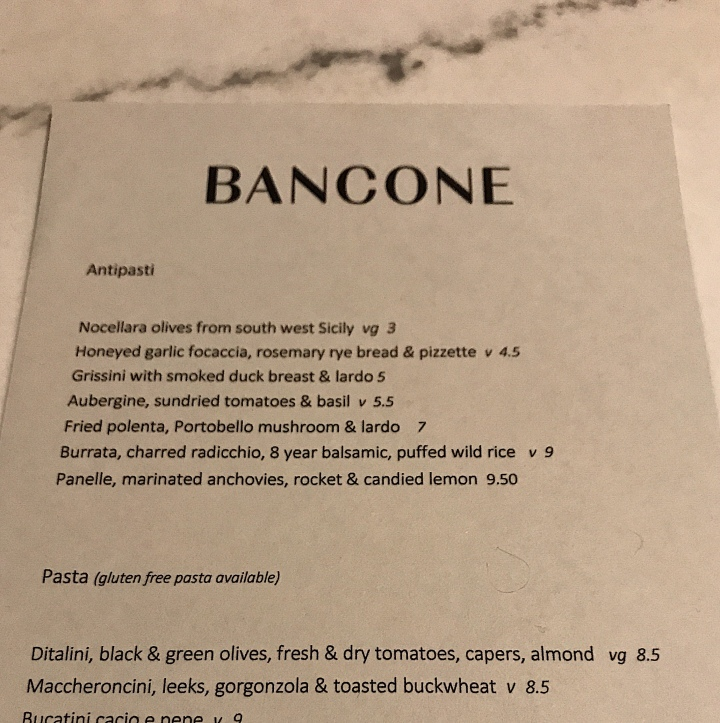 Review: Bancone, Trafalgar Square – A Moveable Feast